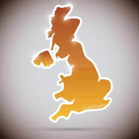Autocollant vintage sous forme de Grande-Bretagne