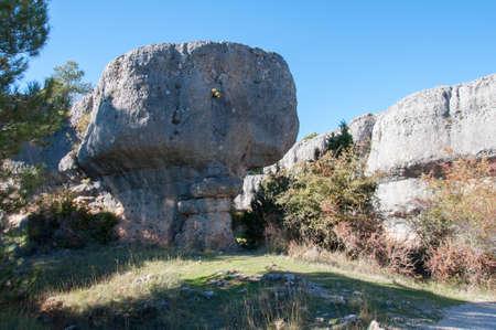 국립 공원 시우다드 엔 칸타 마법의 도시, 쿠 엥카 스페인 스톡 콘텐츠