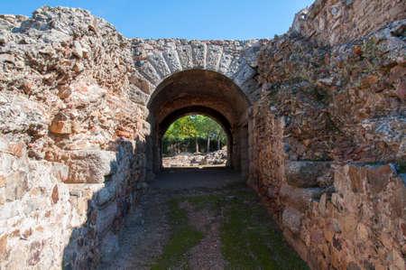 antiquity: ancient amphitheatre of Merida, Spain