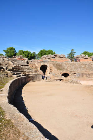 merida: ancient amphitheatre of Merida, Spain
