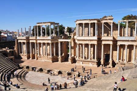 teatro antiguo: El Teatro Romano Teatro Romano en Mérida, España