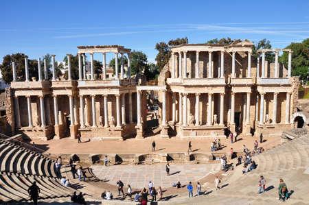 メリダ, スペインのローマ劇場ローマ劇場 写真素材