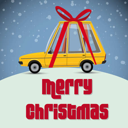 prestige: christmas card with gift car
