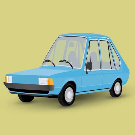 carro caricatura: coche divertido de la historieta