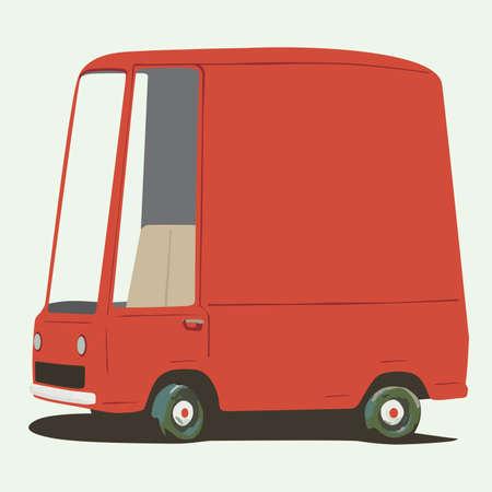 family van: funny cartoon minivan