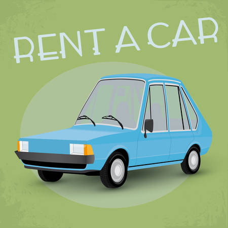 old fashioned: Old fashioned comics style rent a car poster