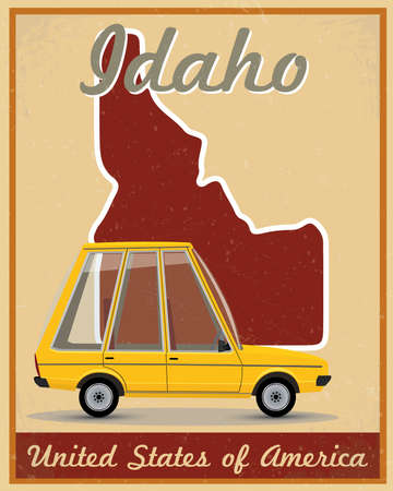 Idaho road trip vintage poster Stock Vector - 25252608