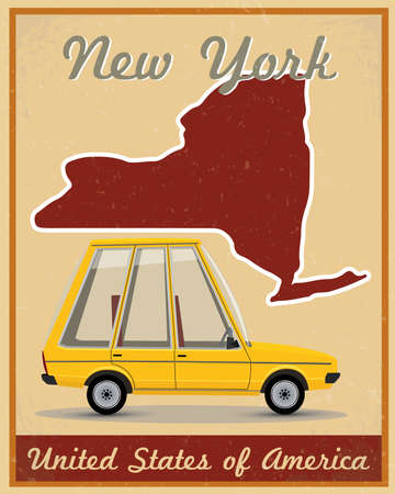New York road trip vintage poster Vector
