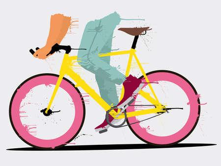 fixed: fondo con la bicicleta de artes fijos Vectores