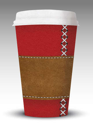 to go cup: luxury leather coffe to go cup