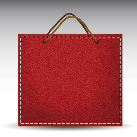 luxus: luxury leather shopping bag