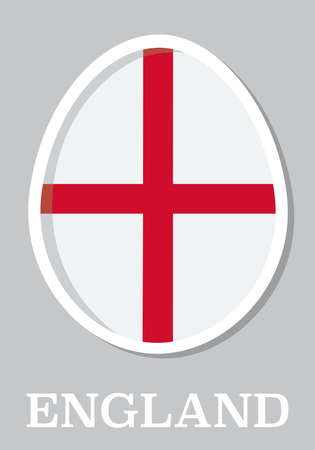 sticker flag of England in form of easter egg Vector