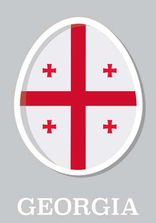 easteregg: sticker flag of Georgia in form of easter egg