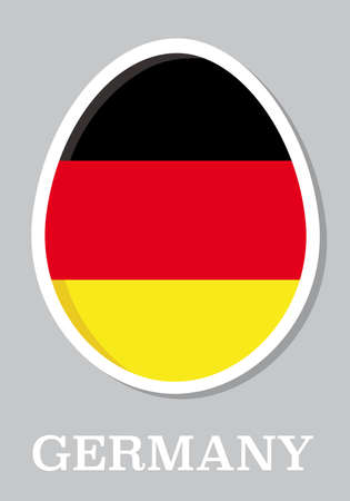 sticker flag of Germany in form of easter egg Vector