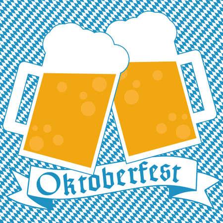 wiesn: Oktoberfest bavarian background Illustration