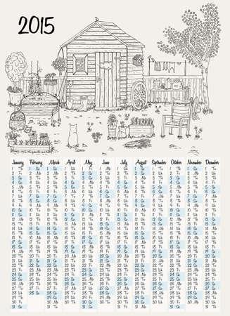weeder: 2015 calendar with garden illustration