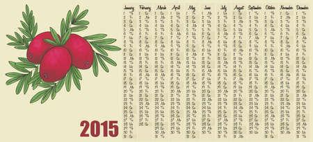cowberry: 2015 calendar with cranberry