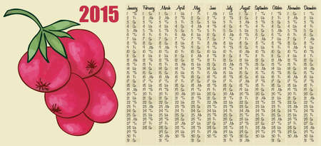 red currant: 2015 calendar with red currant