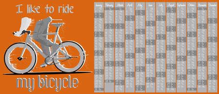 clavados: 2015 calendario con la bicicleta de artes fijos