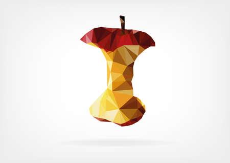 bite apple: Low Poly Apple Core