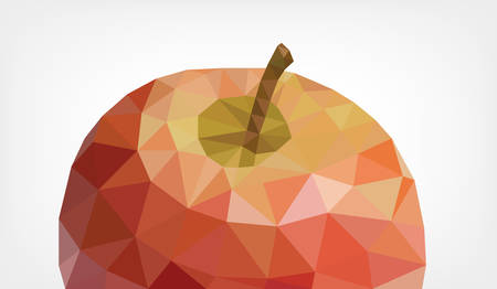 Low Poly Apple Ilustrace