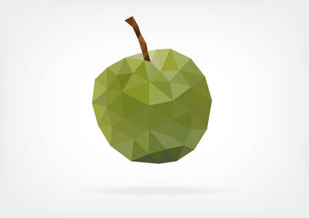 prune: Low Poly Green Greengage Plum