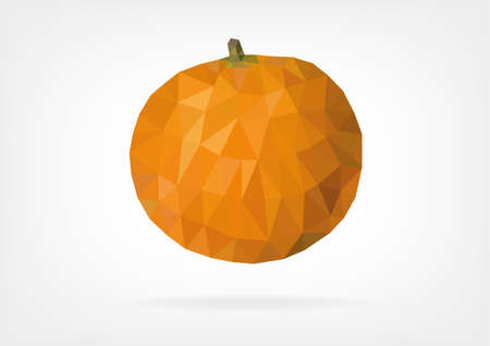 fruitage: Low Poly Mandarin Orange