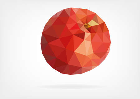 nectarine: Low Poly Peach