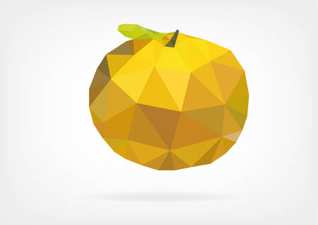sourness: Low Poly Yuzu (japanese lemon)