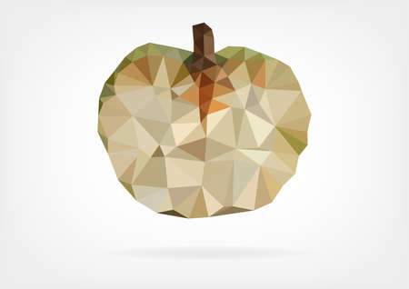 halved: Low Poly Annona fruit
