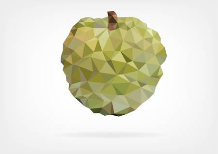 Low Poly Annona fruit