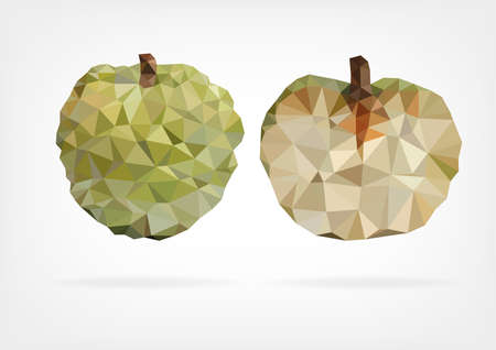 annona squamosa: Low Poly Annona fruit
