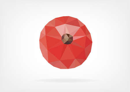 red currant: Low Poly Red Currant Illustration