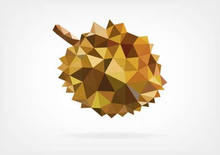 pierce: Low Poly Durian fruit