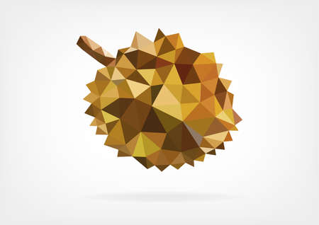 pointy: Low Poly Durian fruit