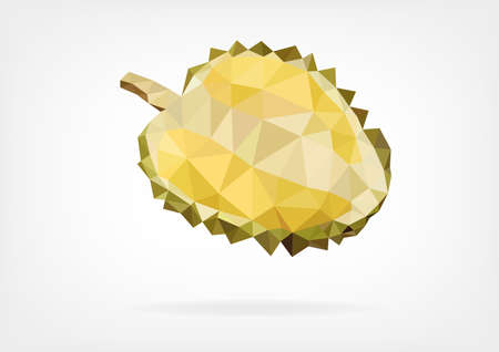 to pierce: Low Poly Durian fruit