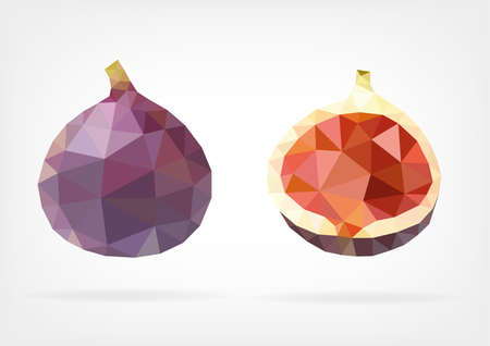 purple fig: Low Poly Fig
