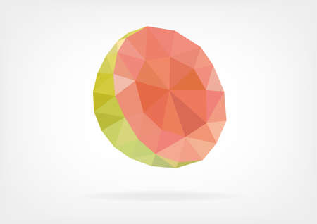 guava fruit: Low Poly Guava fruit Illustration