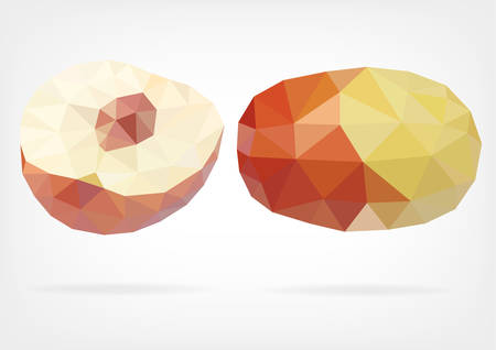 jujube: Low Poly Jujube fruit