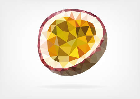 Low Poly Passion Fruit of Maracuja