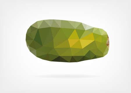 papaya: Low Poly Papaya fruit
