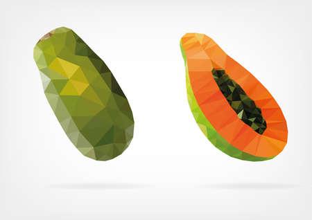 moist: Low Poly Papaya fruit