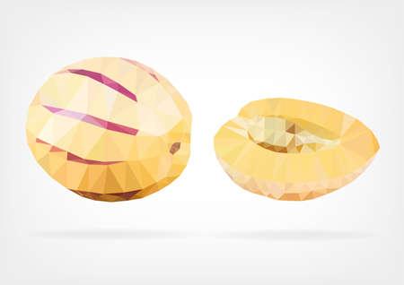 pepino: Low Poly Pepino Melon fruit