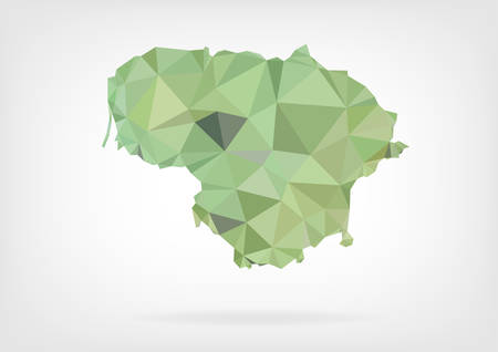 baltic: Low Poly Map of Lithuania