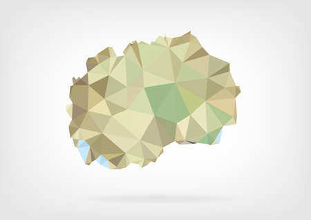 papery: Low Poly Map of Macedonia Illustration