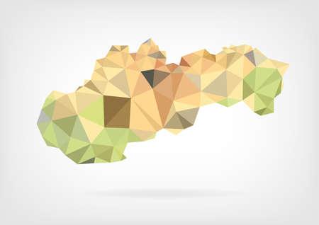 slovakian: Low Poly map of Slovakia
