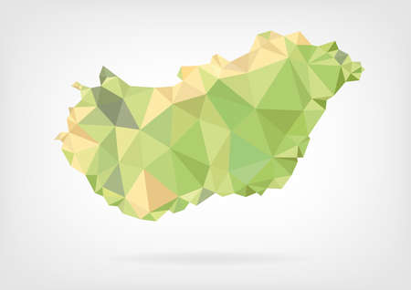 papery: Low Poly map of Hungary