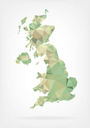england map: Low Poly map of United Kingdom