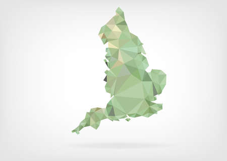 wales: Low Poly map of England Illustration