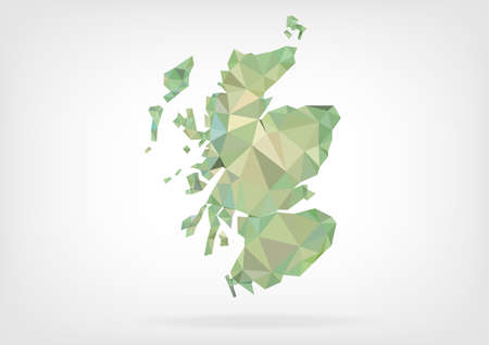 papery: Low Poly map of Scotland